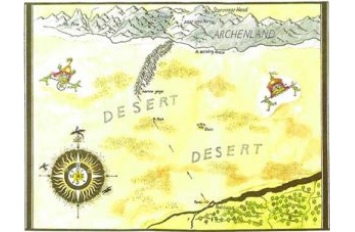 Narnia Maps: The Horse and His Boy